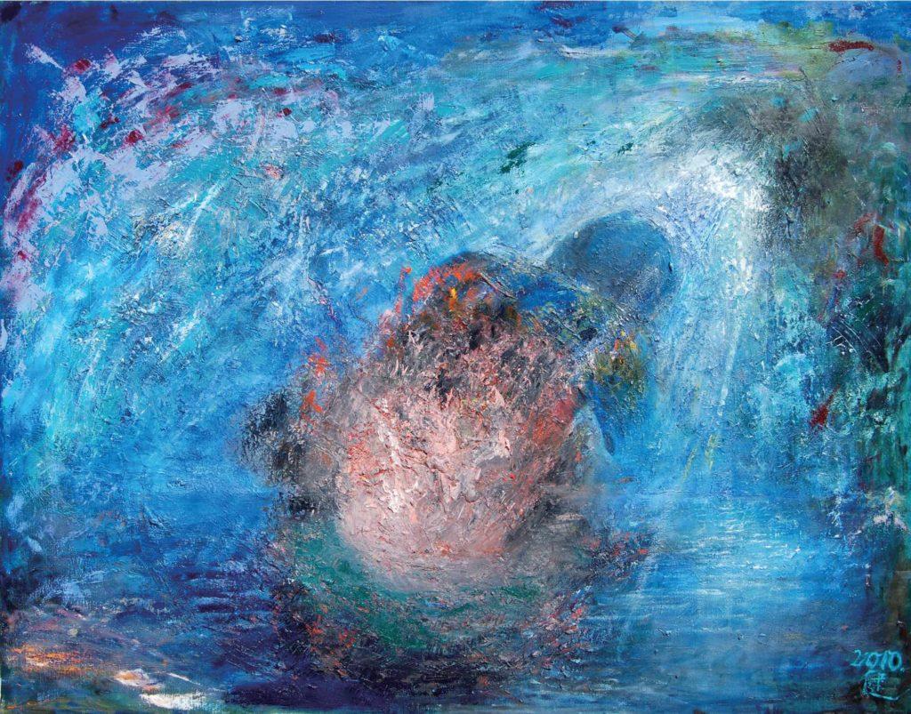 木本健 内攻癖 憤怒と共に 油彩画 画像