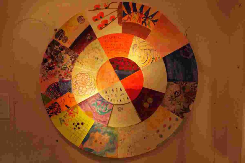 nisipiricaの色たちで展示された曼荼羅